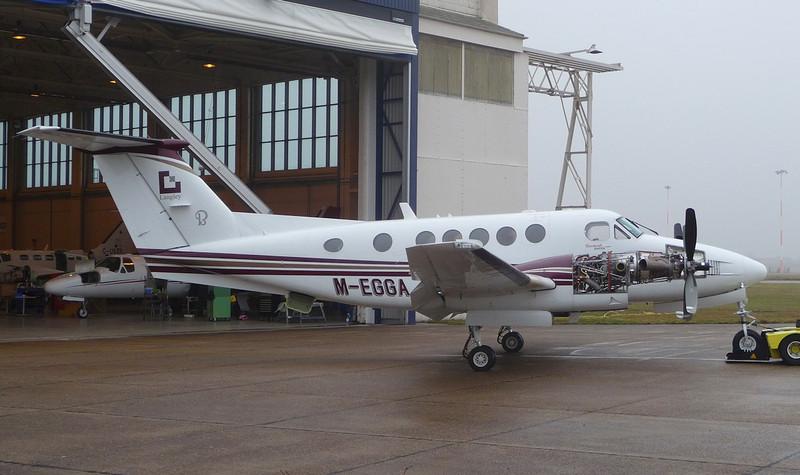 Work in progress - Beech 200 Super King Air, M-EGGA <br /> By Correne Calow.