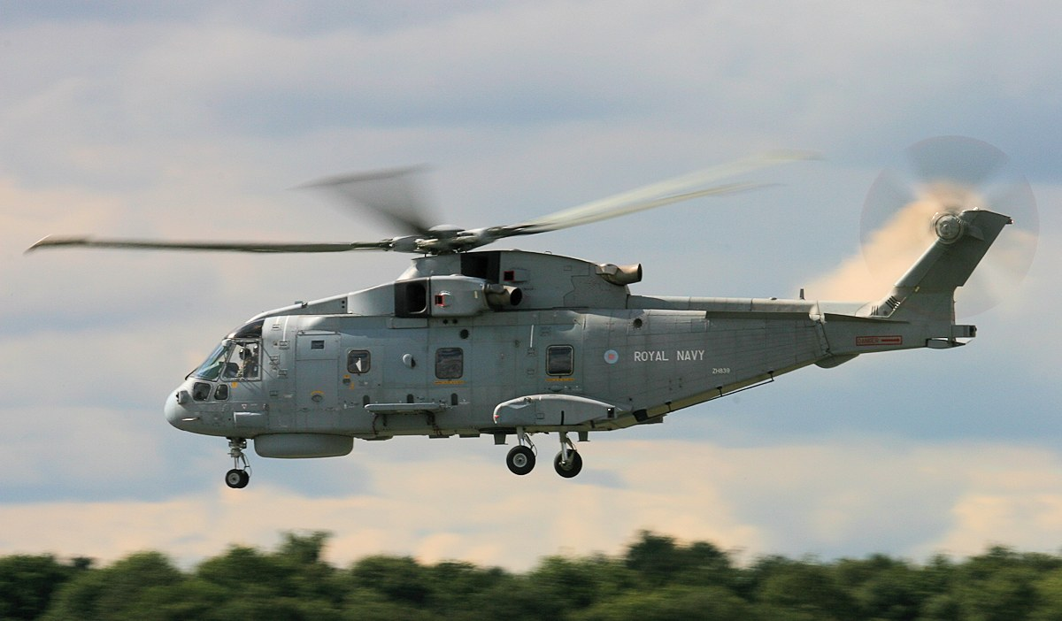 Royal Navy Merlin HM.1, ZH839.<br /> By Jim Calow.