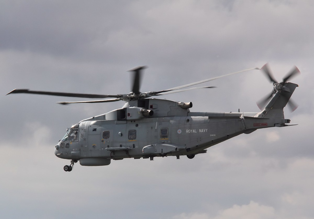 Royal Navy Merlin HM.1, ZH839.<br /> By Correne Calow.