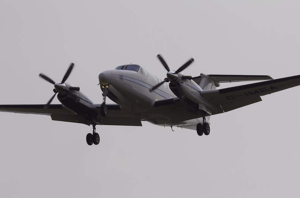 Cega Aviation Beech 200 Super King Air, G-IMEA<br /> By Steve Roper.