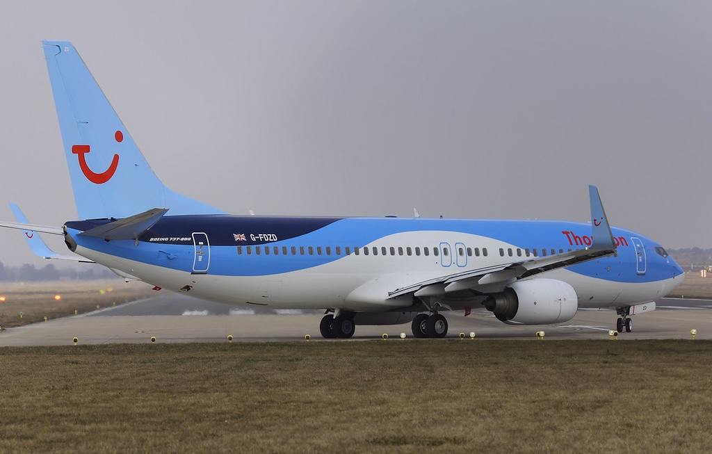 Thomson Airways B737-800, G-FDZD<br /> By Steve Roper.