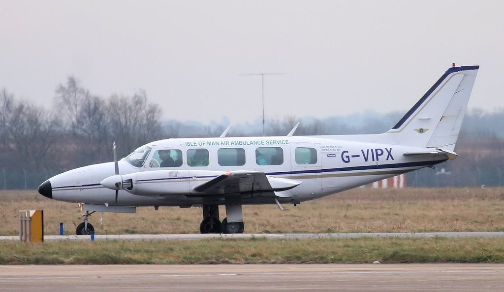 Capital Air, Piper PA-31-350 Navajo Chieftain, G-VIPX about to dep for Ronaldsway I.O.M.<br /> By Jim Calow.