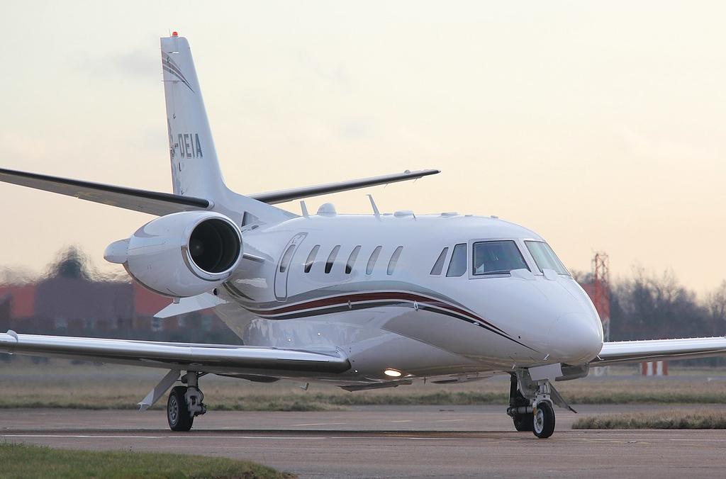Cessna 560XLS Plus Citation Excel, G-DEIA.<br /> By Correne Calow.