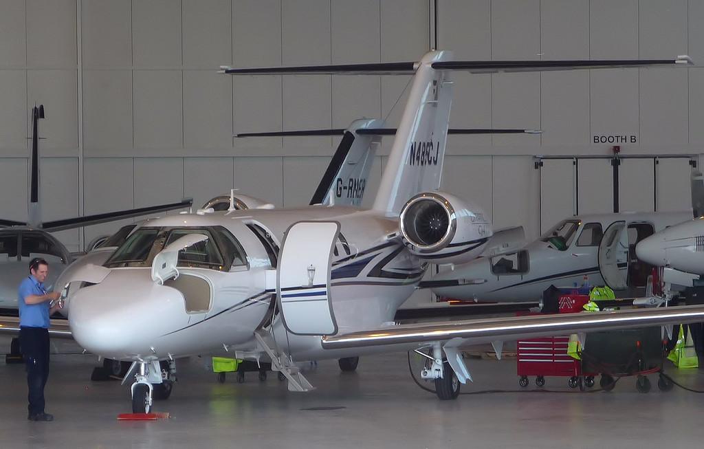 Cessna 525C Citation CJ4, N485CJ<br /> By Correne Calow.