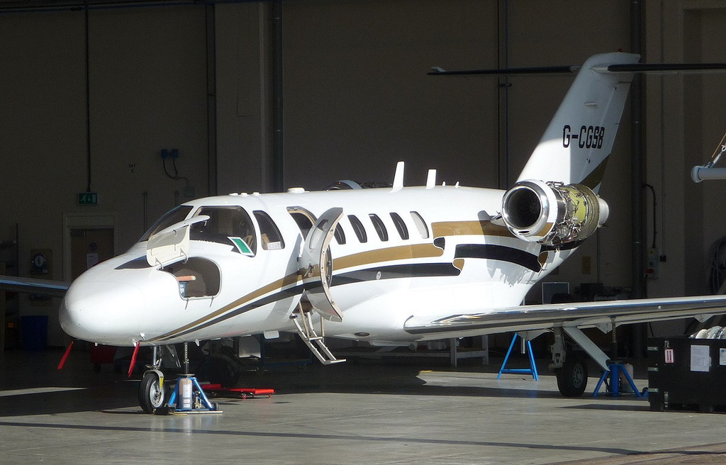 Cessna 525A CitationJet CJ2, G-CGSB<br /> By Correne Calow.