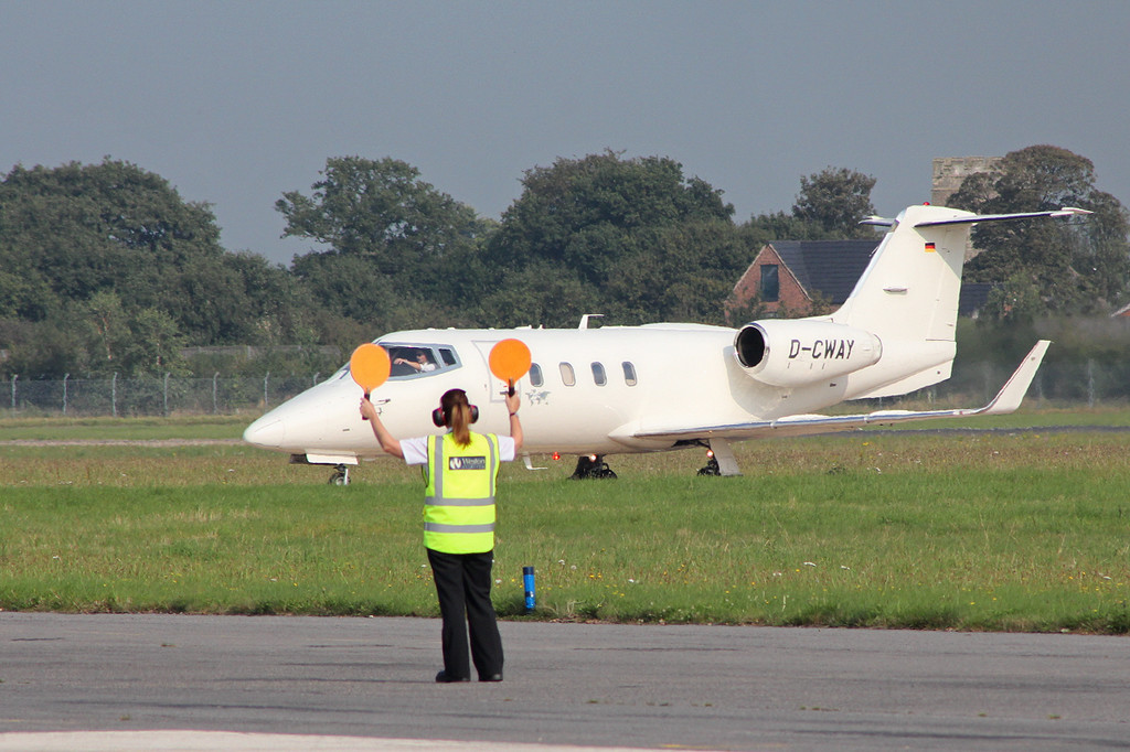 Learjet 55, D-CWAY<br /> By Clive Featherstone.