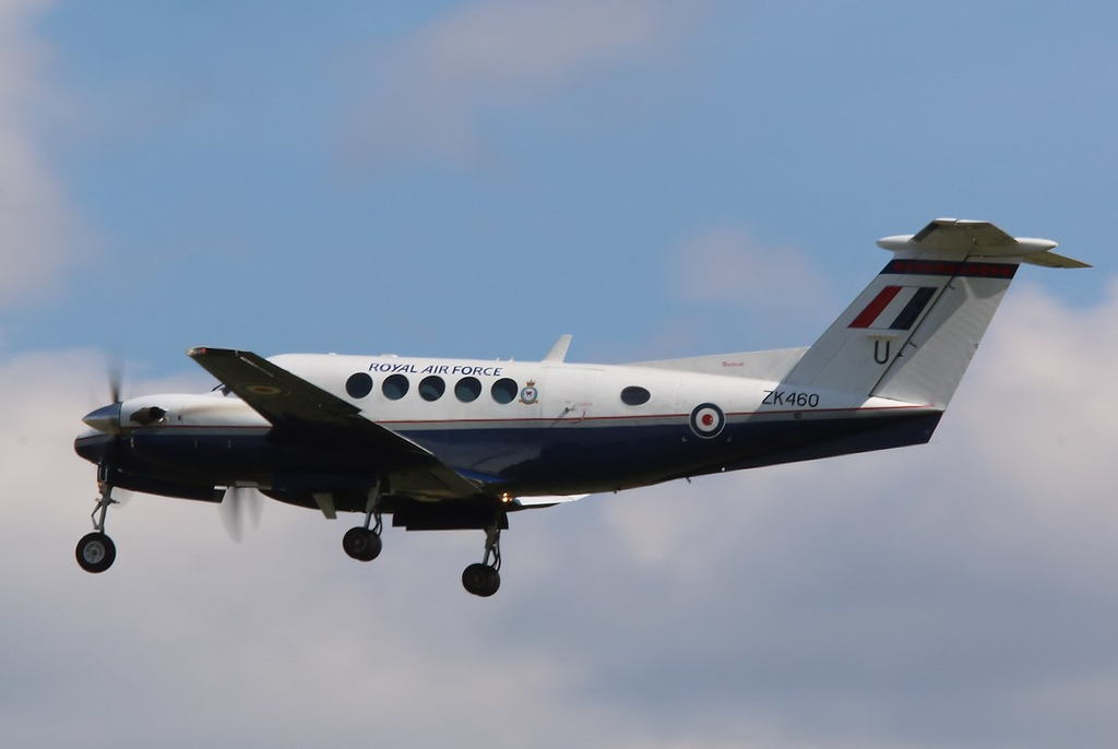 RAF Cranwell, Beech Super King Air 200GT, ZK460<br /> By Correne Calow.