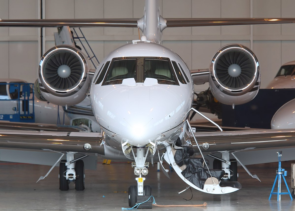 Cessna 680 Citation Sovereign, N510WD was new build this year<br /> By Correne Calow.