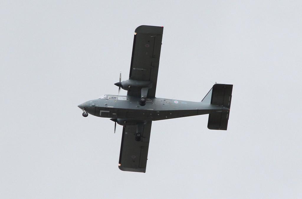 Britten-Norman Islander CC2, ZH536.<br /> By Clive Featherstone.