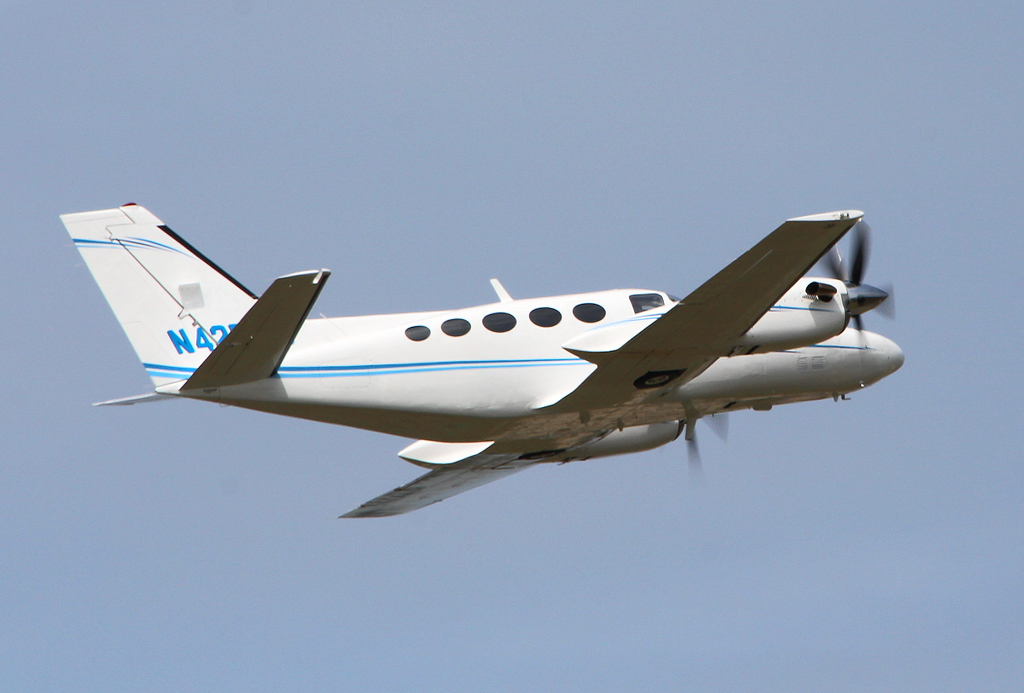 """Cessna 425 Conquest I """"Blackhawk XP"""" N425PG<br /> By Clive Featherstone."""