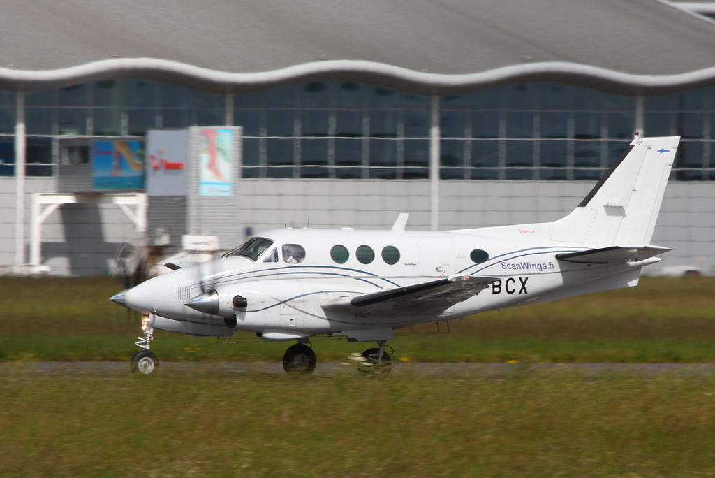 Scanwings, Beech C90 King Air, OH-BCX<br /> By Clive Featherstone.