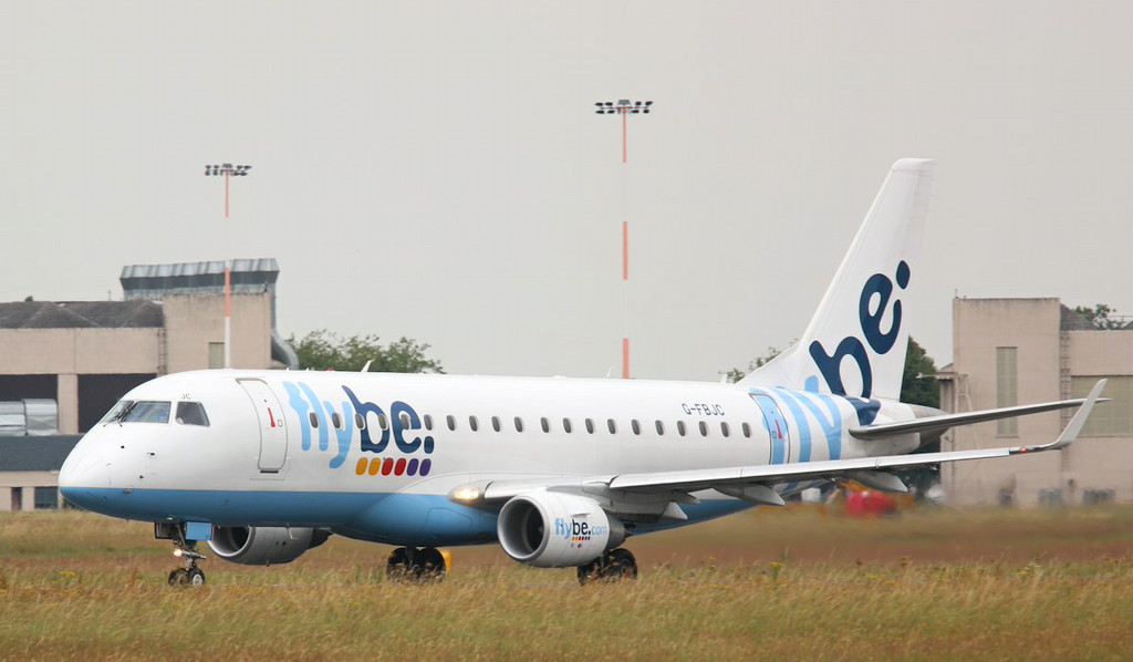 Flybe, Embraer ERJ-170-200LR 175LR, G-FBJC departed to Jersey; long grass still hinders the photos !!<br /> By Correne Calow.