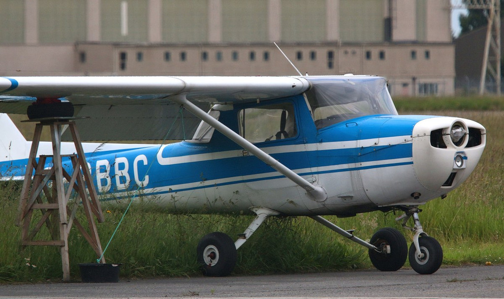 Cessna 150 G-BBBC was damaged by high winds earlier this year.<br /> By Correne Calow.