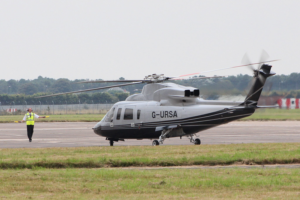 Capital Air, Sikorsky S-76C, G-URSA<br /> By Clive Featherstone.