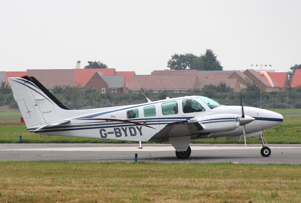 Beech 58 Baron, G-BYDY <br /> By Clive Featherstone.