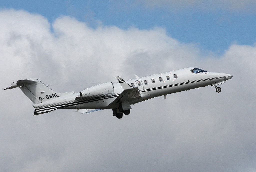 Learjet 45, G-OSRL<br /> By Clive Featherstone.