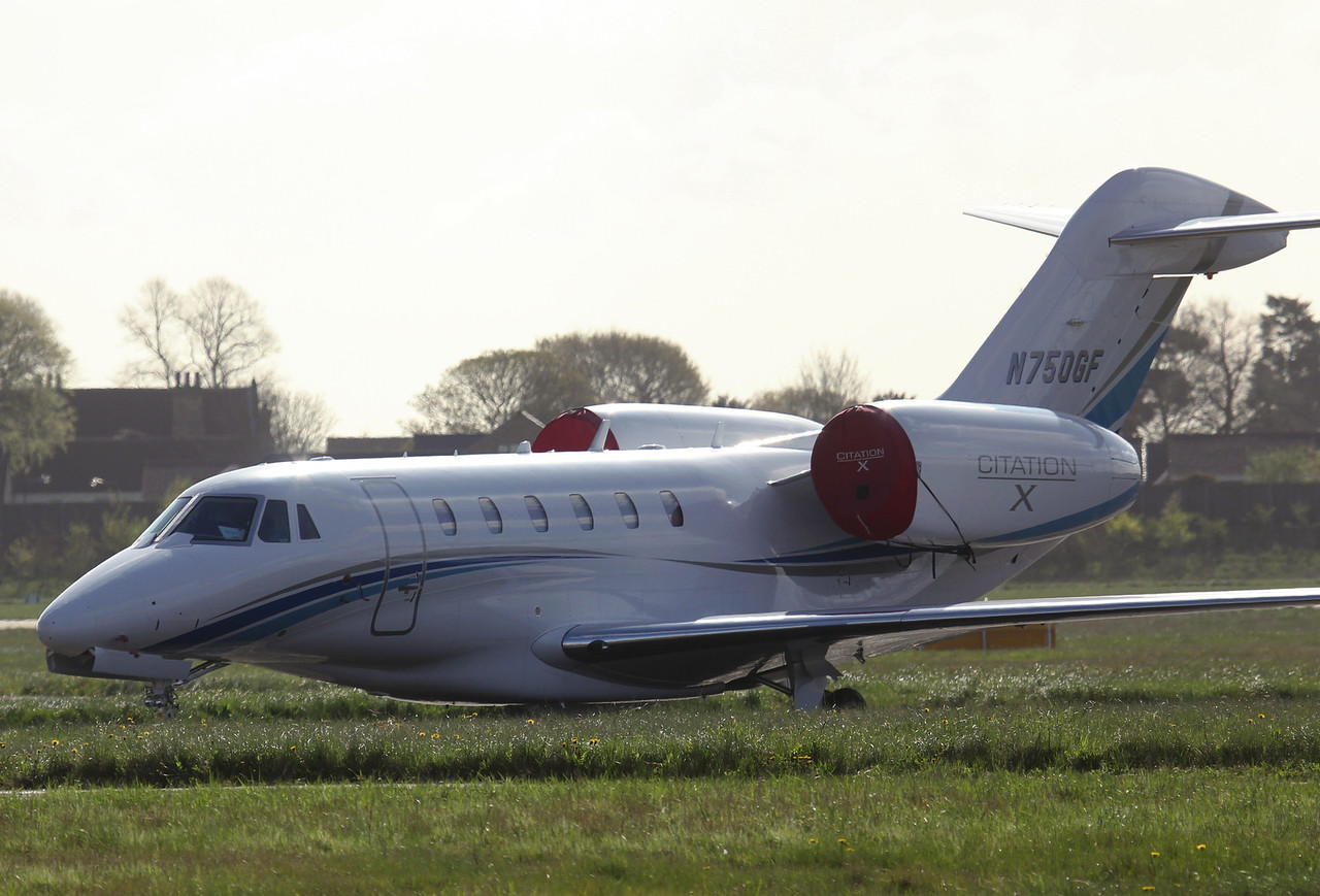 Cessna 750 Citation X, N750GF awaits attention<br /> By Jim Calow.