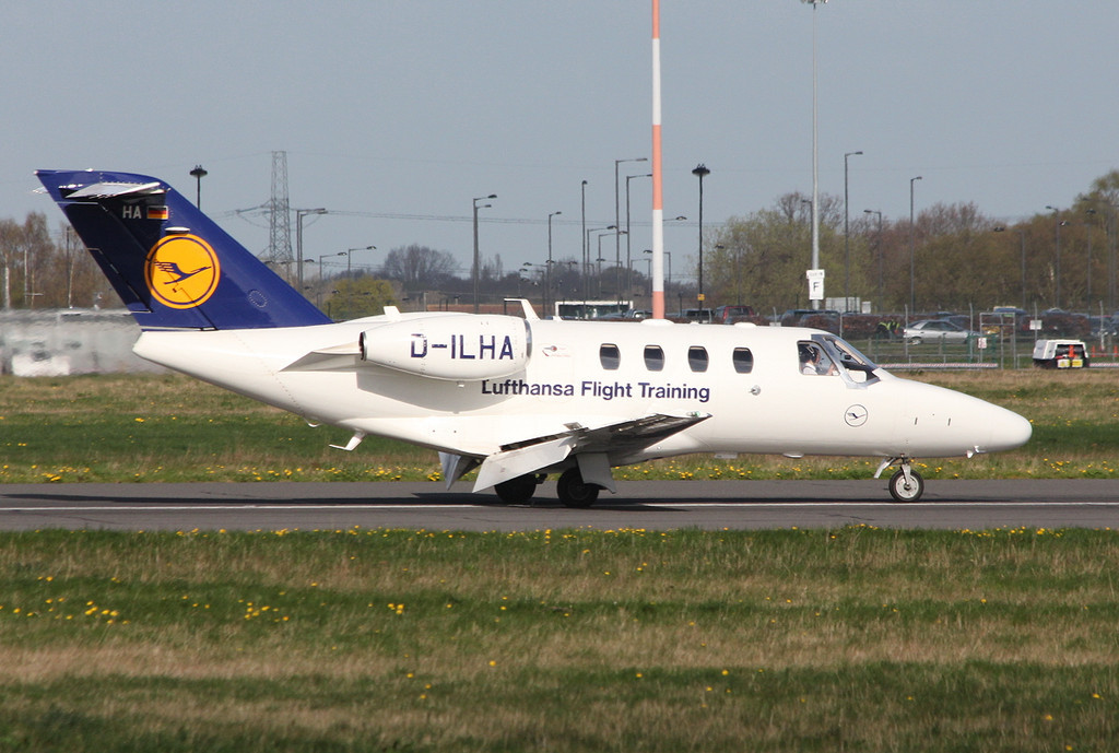 Lufthansa Flight Training, Cessna 525 Citation CJ1+, D-ILHA<br /> By Clive Featherstone.