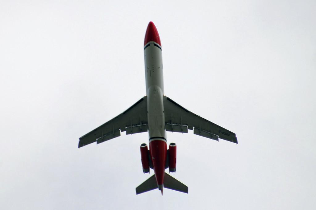T2 Aviation 727-200 G-OSRA.<br /> By Graham Vlacho.