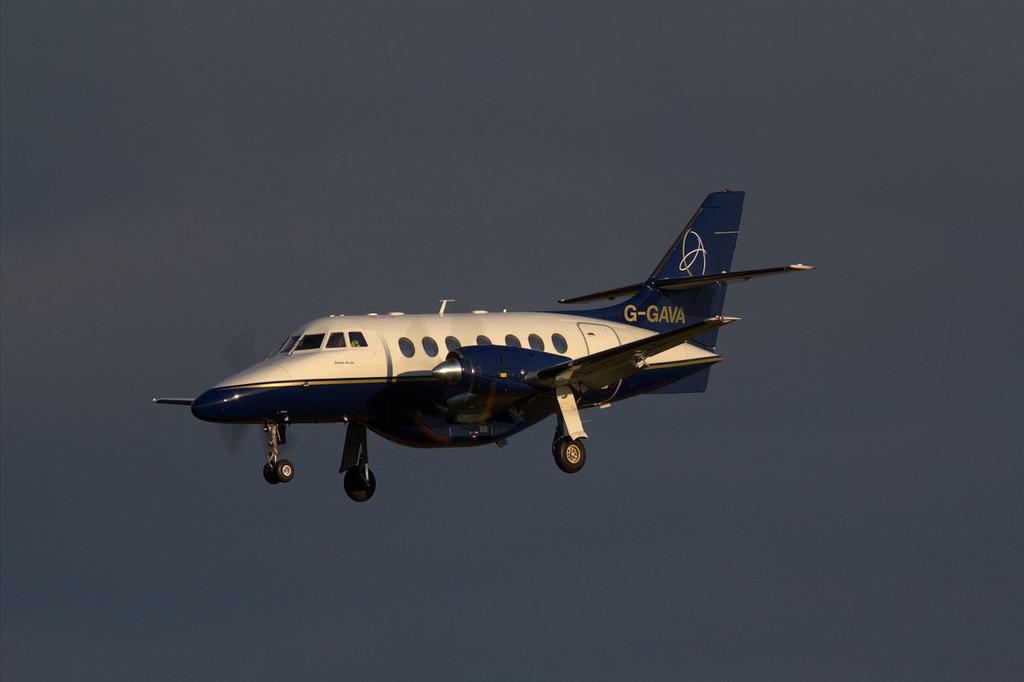Linksair Jetstream 31 G-GAVA inbound from Belfast.<br /> By Jim Calow.