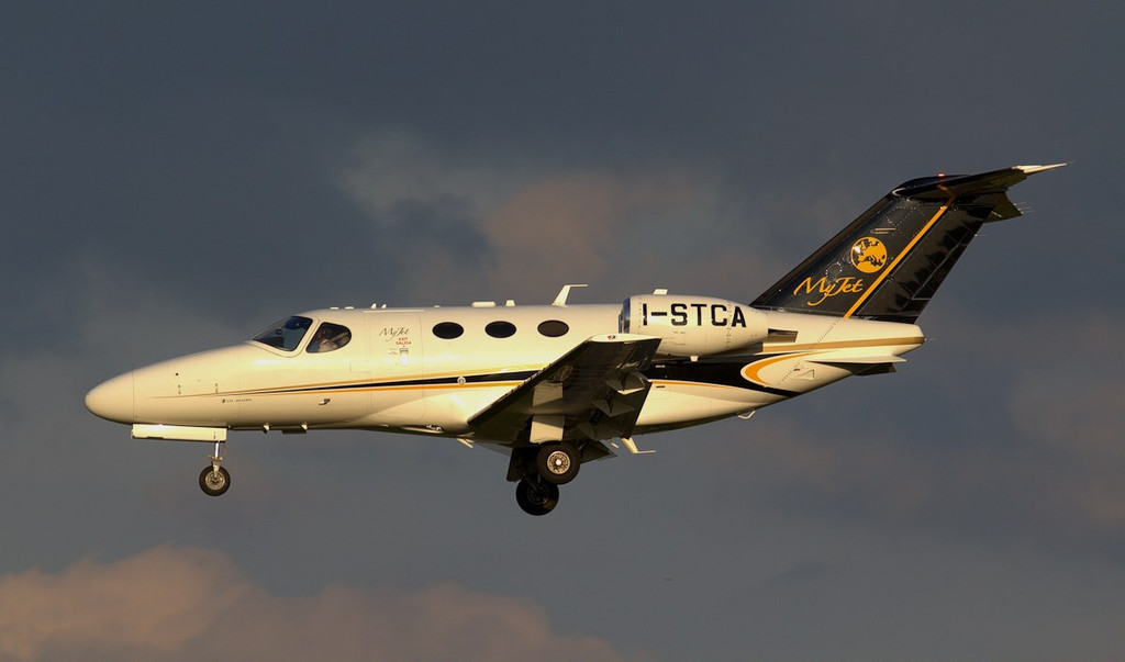 MyJet Cessna 510 Mustang I-STCA. Myjet is a subsidiary of Italy's STC Aviation.<br /> By Jim Calow.