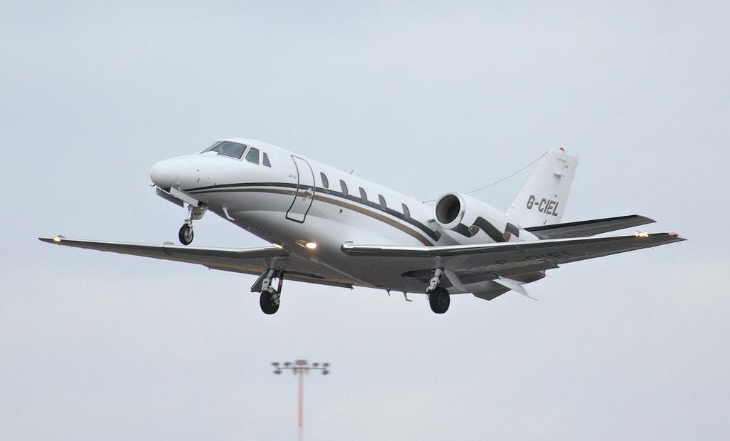 London Executive Aviation Cessna 560XL Citation Excel, G-CIEL.<br /> By Jim Calow.