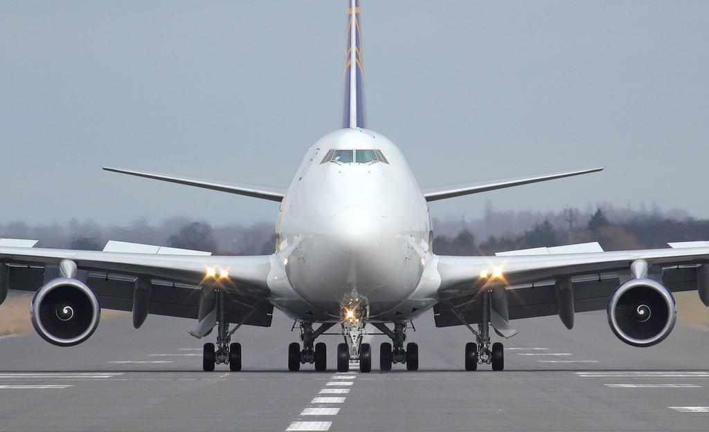 Atlas Air 747-400F, N419MC.<br /> By Jim Calow.