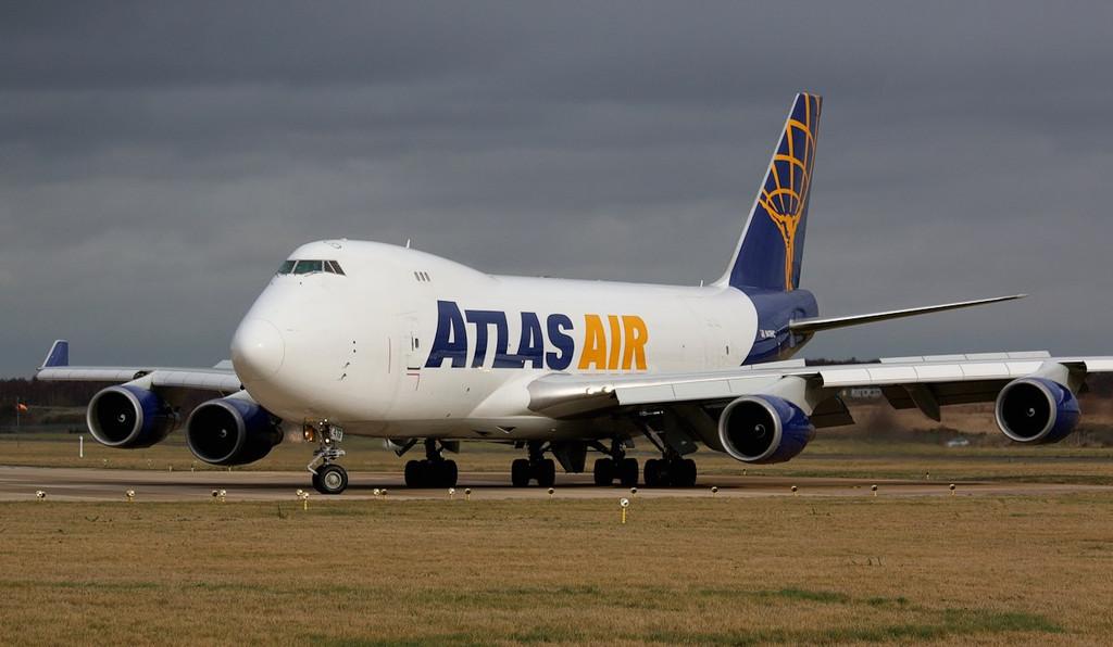 Atlas Air 747-400F, N419MC.<br /> By Correne Calow.