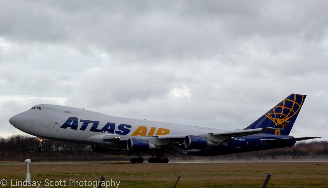 Atlas Air 747-400F, N419MC.<br /> By Lindsay Scott.