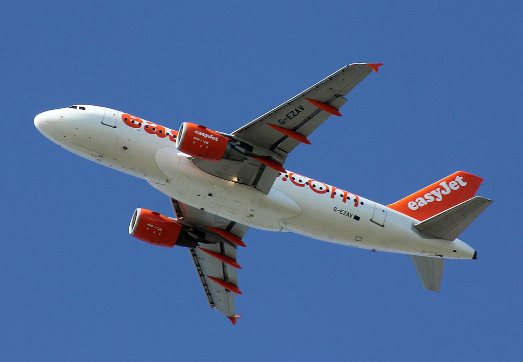 easyJet Airbus A319, G-EZVA over Austerfield<br /> By Nick Bee.