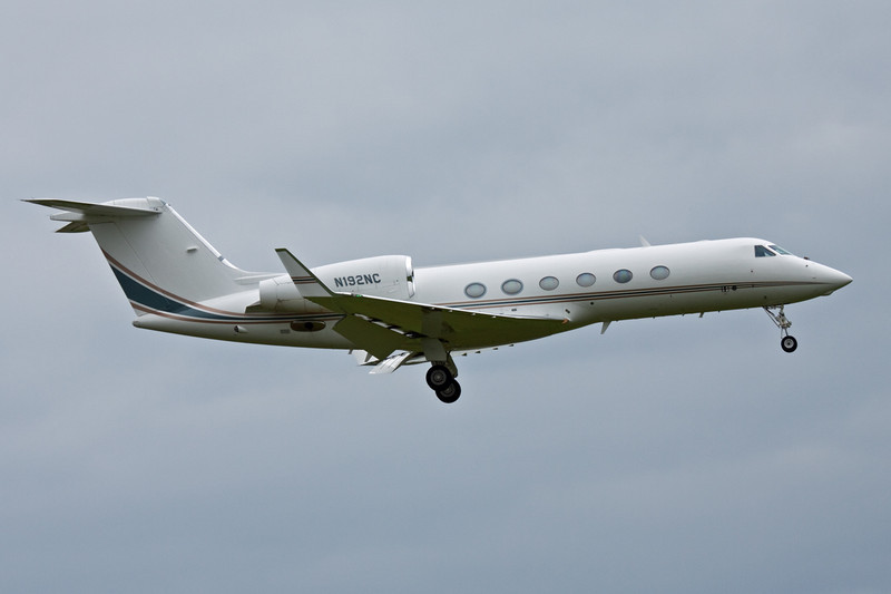 Gulfstream G450 N192NC arriving from Nice.<br /> By David Bladen.