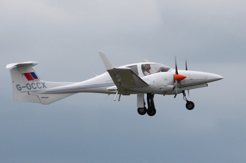 Diamond DA-42 Twin Star, G-OCCX.<br /> By Clive Featherstone.