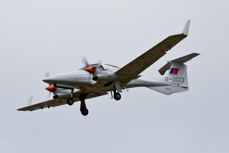 Diamond DA-42 Twin Star, G-OCCX.<br /> By David Bladen.