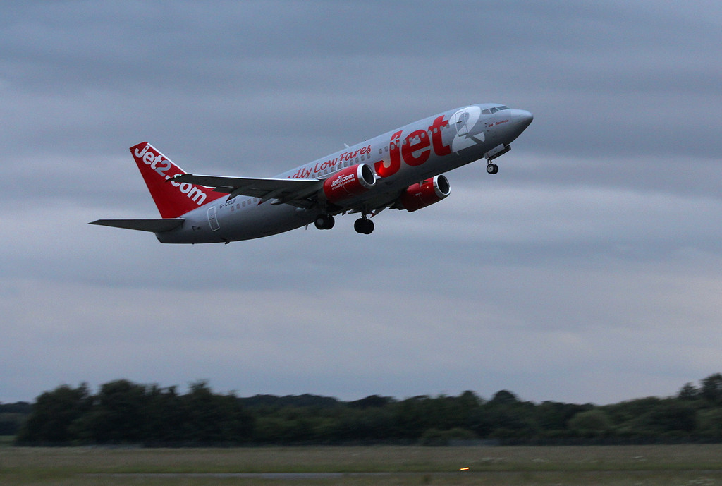 Jet2 737-300 G-CELF.<br /> By Clive Featherstone.