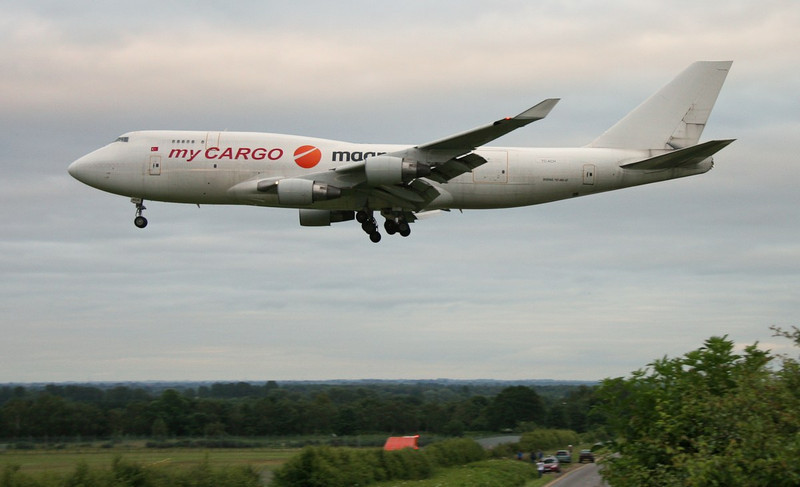 My Cargo Airlines 747-400SF, TC-ACH.<br /> By Jim Calow.