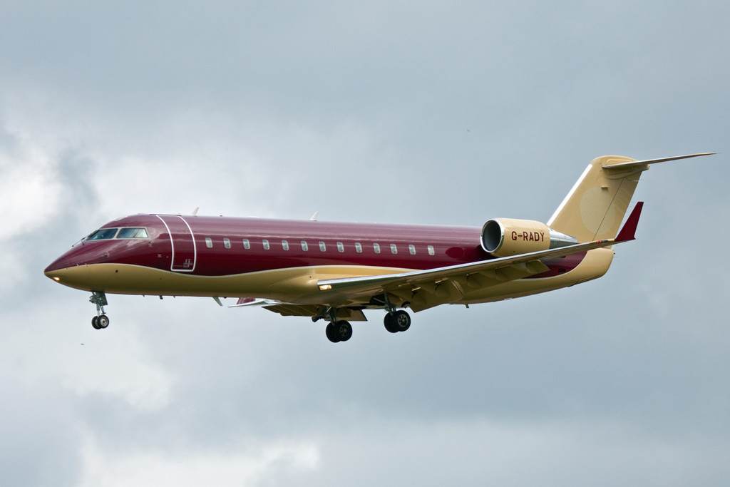 Arriving from Heathrow late afternoon was TAG Aviation CL-600-2B19 Challenger 850, G-RADY.<br /> By David Bladen.