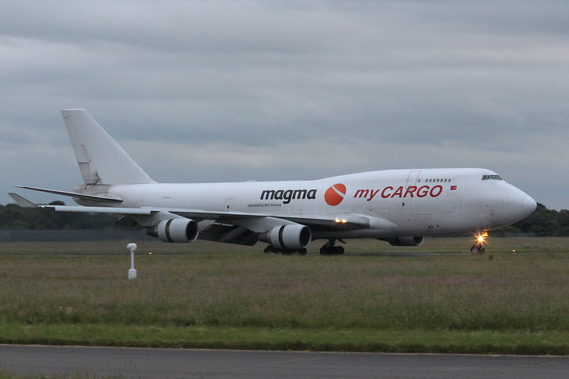 My Cargo Airlines 747-400SF, TC-ACH.<br /> By Clive Featherstone.