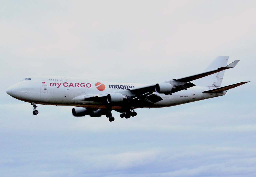 My Cargo Airlines 747-400SF, TC-ACH.<br /> By Nick Bee.