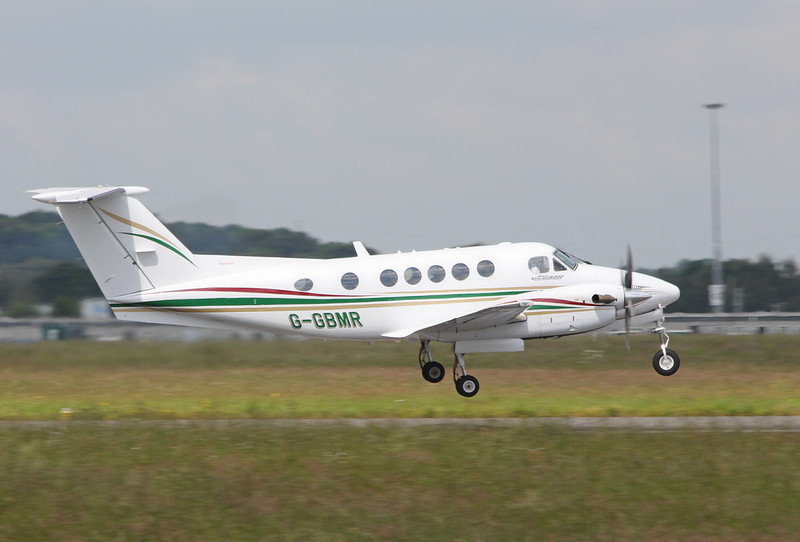 Beech B200 Super King Air, G-GBMR.<br /> By Clive Featherstone.