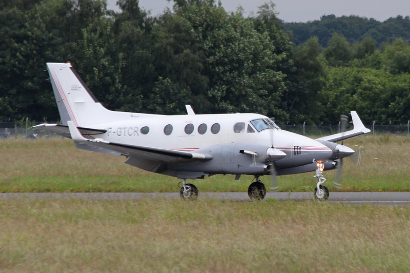 Atlantique Air Assistance Beech C90B King Air, F-GTCR.<br /> By Clive Featherstone.