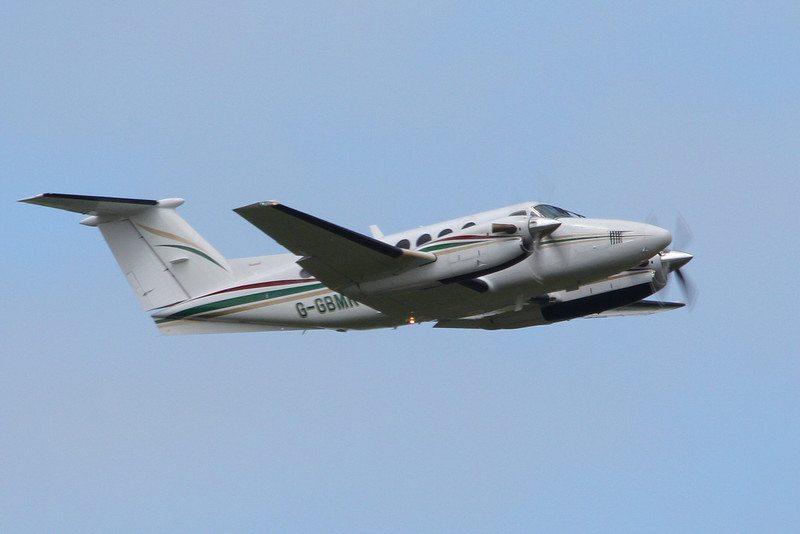 Beech B200 Super King Air, G-GBMR visited for training.<br /> By Clive Featherstone.