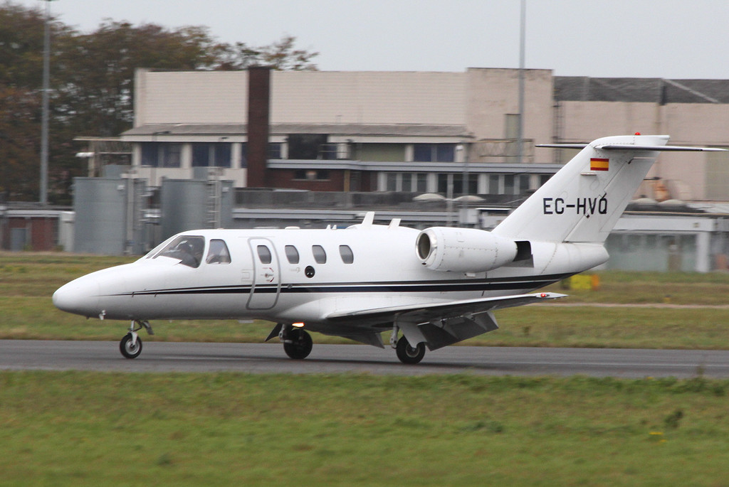 Executive Airlines, Cessna 525 CitationJet CJ1, EC-HVQ<br /> By Clive Featherstone.