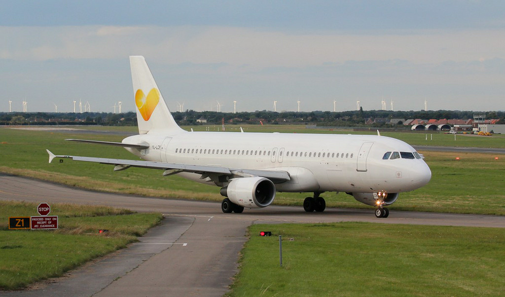 Thomas Cook A320 YL-LCK.<br /> By Jim Calow.