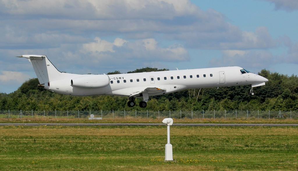 Eastern Airways Embraer EMB-145MP, G-CGWV.<br /> By Jim Calow