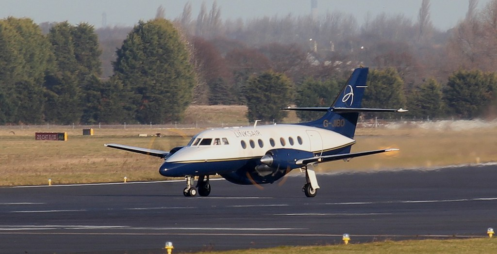 Linksair, Jetstream 31, G-JIBO now has Linksair titles applied.<br /> By Jim Calow.