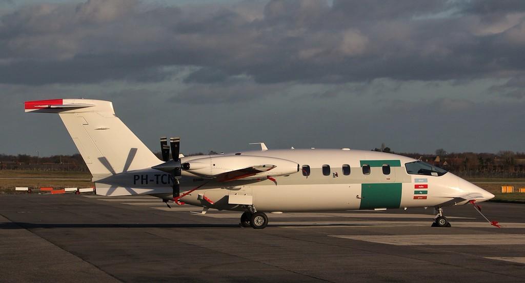 JetNetherlands P180 Avanti ll PH-TCN.<br /> By Jim Calow.