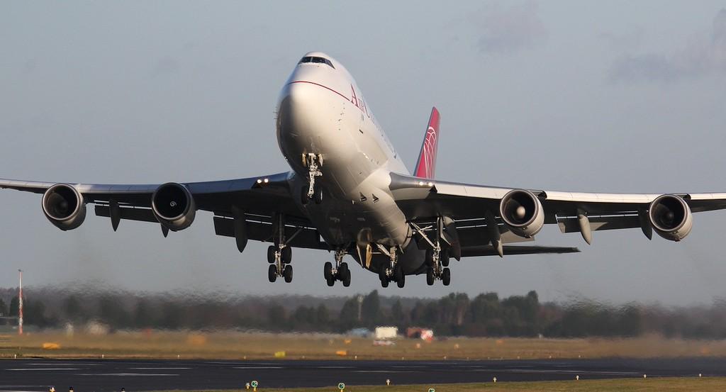 Air Cargo Global 747-400F OM-ACA.<br /> By Jim Calow.