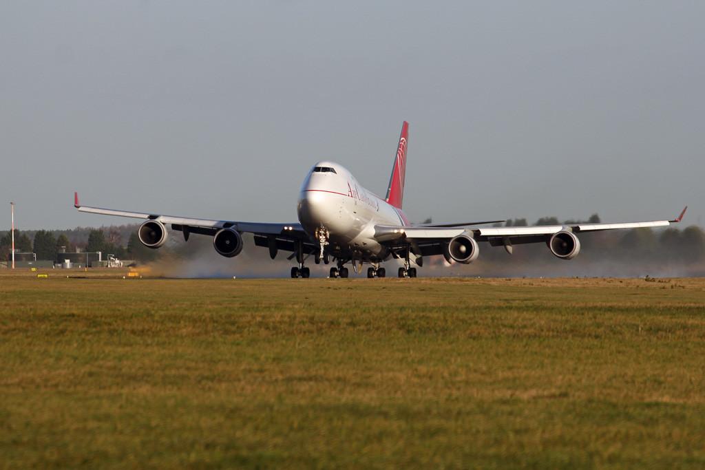 Air Cargo Global 747-400F OM-ACA.<br /> By Graham Vlacho.