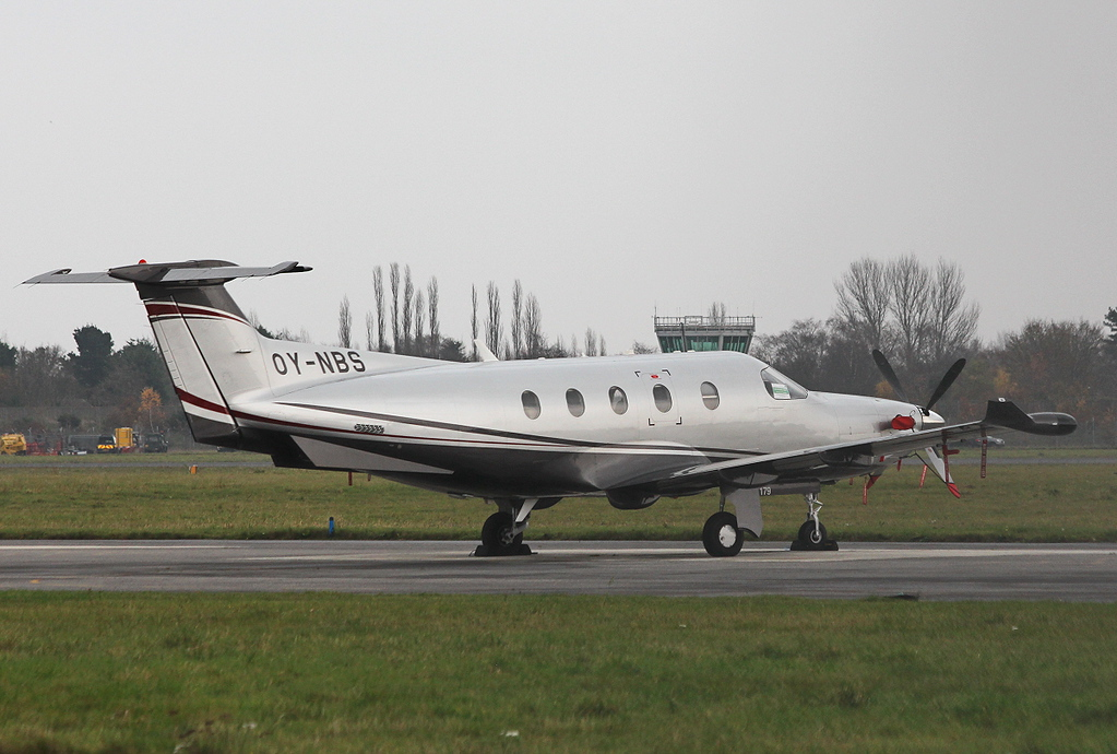 Pilatus PC-12/47E, OY-NBS<br /> By Clive Featherstone.