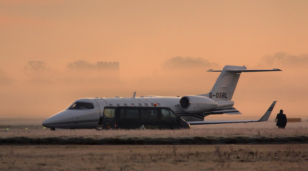 Learjet 45, G-OSRL.<br /> By Correne Calow.